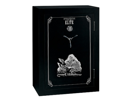 Stack-On Elite 45-Gun Fire-Resistant Safe with Electronic Lock & Flex Interior Black/Silver