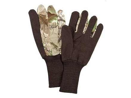 Hunter's Specialties Dot Grip Jersey Gloves Cotton Realtree APG Camo