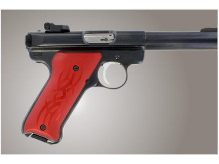 Hogue Extreme Series Grip Ruger Mark II, Mark III Tribal Aluminum Red