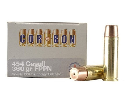 Cor-Bon Hunter Ammunition 454 Casull 360 Grain Flat Nose Penetrator Box of 20