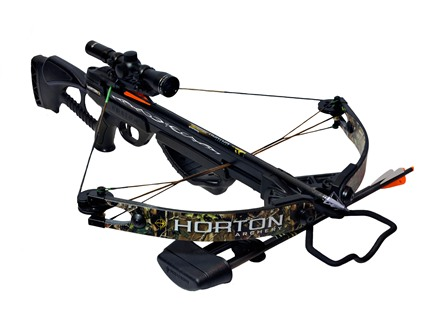 Horton Bone Crusher HD 175 Crossbow Package with 4x 32mm Mult-A-Range Crossbow Scope Black/Realtree APG Camo