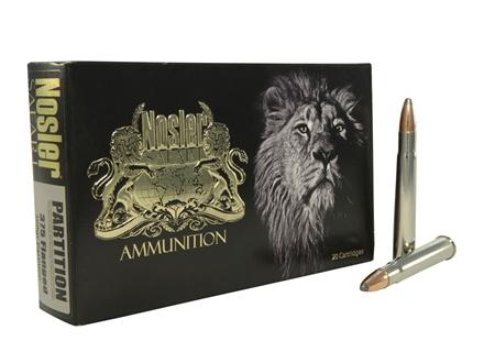 Nosler Safari Ammunition 375 Flanged Magnum 300 Grain Partition Box of 20