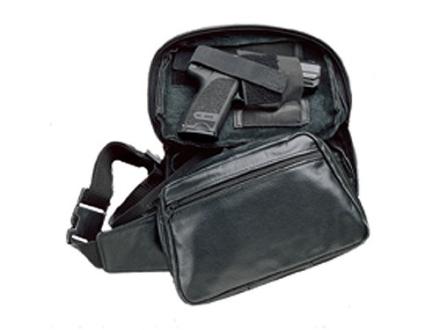 DeSantis Gunny Sack 2 Fanny Pack Holster Ambidextrous Large Frame Semi-Automatic, Revolver Nylon Black