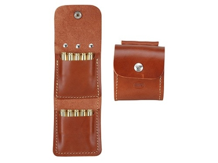 Hunter Belt Slide Folding Rifle Ammunition Carrier 8-Round up to 30-06 Springfield Leather Brown
