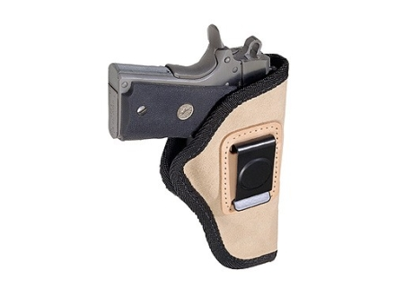Hunter 1300 Waistband Holster Right Hand 1911 Government, Commander, Browning Hi-Power, Walther P38 Suede Brown with Black Trim