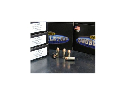 Doubletap Ammunition 40 S&W 135 Grain Nosler Jacketed Hollow Point