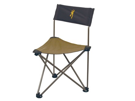 Browning Dakota Tripod Chair Steel Frame Nylon Seat Khaki and Coal