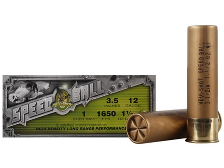 "Hevi-Shot Speedball Waterfowl Ammunition 12 Gauge 3-1/2"" 1-1/2 oz #1 Non-Toxic Shot"