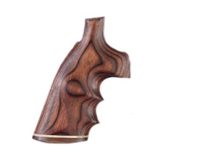 Hogue Fancy Hardwood Grips with Accent Stripe, Finger Grooves and Contrasting Butt Cap Taurus Medium and Large Frame Revolvers Round Butt Rosewood Laminate