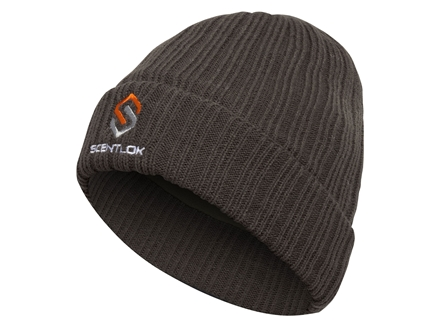 Scent-Lok Roll Knit Beanie Polyester Charcoal