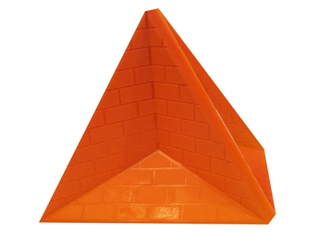 "Do-All Impact Seal Ground Bouncing Great Pyramid 6"" Reactive Target Self Healing Polymer Orange"