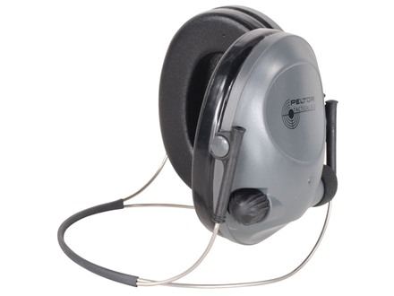 Peltor Tactical 6S Behind the Head Electronic Earmuffs (NRR 19dB) Gray