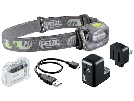 Petzl Tikka 2 Core Headlamp CORE Rechargeable Battery Polymer Storm Gray