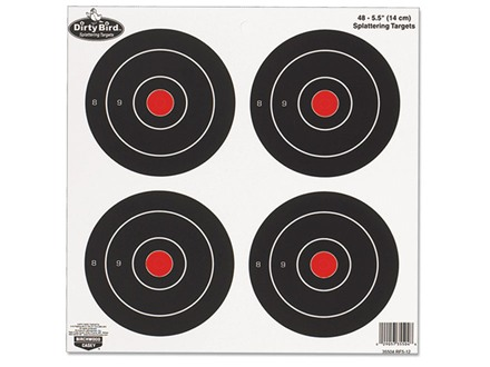 "Birchwood Casey Dirty Bird 6"" Bullseye Targets Package of 12"