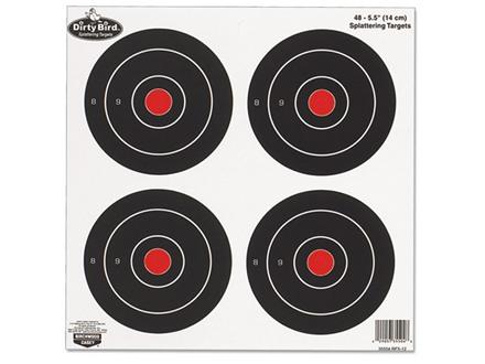 "Birchwood Casey Dirty Bird 6"" Bullseye Targets Package of 12"