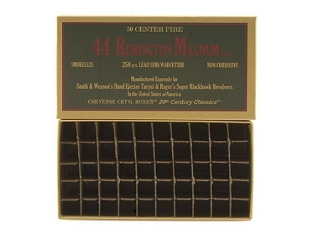 Cheyenne Pioneer Cartridge Box 44 Remington Magnum Chipboard Package of 5
