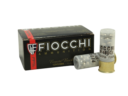"Fiocchi Ammunition 12 Gauge 2-3/4"" #4 Buckshot 27 Nickel Plated Pellets Box of 10"