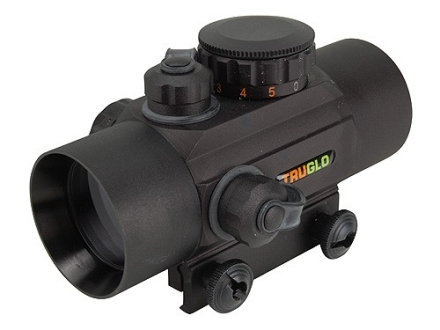 TRUGLO Xtreme Red Dot Sight 30mm Tube 1x Red and Green 4-Pattern Reticle (10 MOA Dot, Crosshair with 1.5 MOA Peep, 3 MOA Center Dot, Crosshair) with Integral Weaver-Style Base Matte