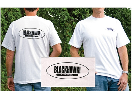 "BlackHawk Branded Short Sleeve T-Shirt Cotton White Large (42"" to 44"")"