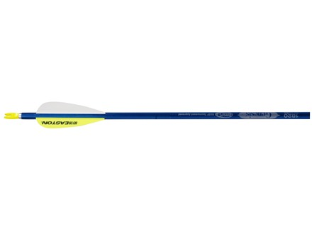 "Easton XX75 Genesis Aluminum Youth Arrow 3"" Vanes Blue Pack of 6"