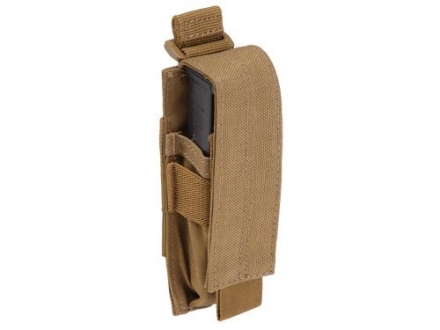 5.11 Single Magazine Pouch Pistol Magazines Nylon Flat Dark Earth
