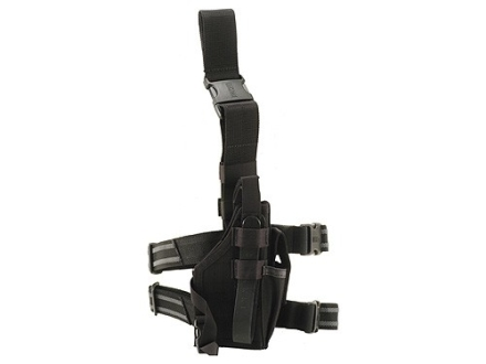 BlackHawk Omega 6 Elite Drop Leg Holster Right Hand Glock 20, 21, HK USP 40, 45, S&W M&P 45 Nylon Black