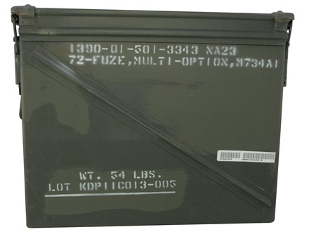 "Military Surplus Ammo Can 20mm 17.125"" x 14"" x 7.375"""