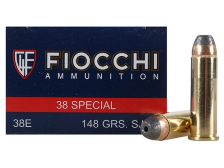 Fiocchi Shooting Dynamics Ammunition 38 Special 148 Grain Semi-Jacketed Hollow Point Box of 50