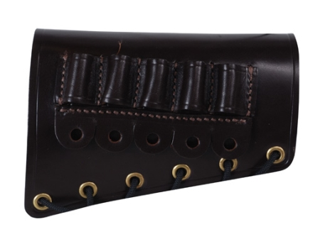 Galco Rifle Cheek Rest Right Hand with 308 Winchester/30-30 Winchester Rifle Ammunition Carrier 5-Round Leather Dark Havana
