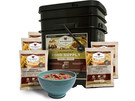 Wise Food Stocking Up Freeze Dried 120 Serving Bucket Breakfast Only