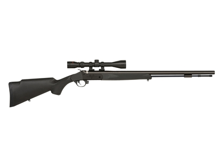 "Traditions Pursuit UL Muzzleloading Rifle Package 50 Caliber with 3-9x 40mm Scope Black Synthetic Stock 26"" Blued Barrel"