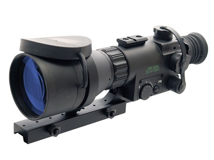 ATN Aries MK410 Spartan 1st Generation Night Vision Rifle Scope 5x 108mm Illuminated Red Duplex Reticle with Integral Weaver-Style Mount Matte