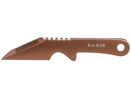 "KA-BAR BOGA Neck Knife Fixed Blade 2.19"" Besh Edge 3Cr13 Stainless Steel Blade One Piece Construction Coyote"