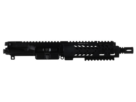 "Adams Arms AR-15 Pistol A3 PDW Tactical Evo Gas Piston Upper Assembly 5.56x45mm NATO 1 in 7"" Twist 7.5"" Barrel Melonite Finish with 7"" Extended Free Float Modular Rail Handguard, Flash Hider"