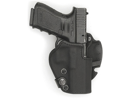 "Front Line BFL Belt Holster Right Hand Springfield XD 9/40 Service 4"" Suede Lined Kydex Black"