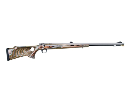"Knight Mountaineer Muzzleloader Rifle 50 Caliber 27"" Stainless Steel Barrel Wood Thumbhole Stock Forest Green"