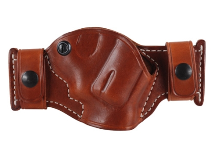 El Paso Saddlery Snap Off Compact Thumb Break Outside the Waistband Holster Right Hand Smith & Wesson J-Frame Leather Russet Brown