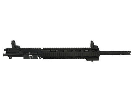 "DPMS AR-15 A3 Mini SASS Flat-Top Upper Assembly 5.56x45mm NATO 1 in 8"" Twist 18"" Fluted Bull Barrel Stainless Steel Black with Free Float Quad Rail Handguard, Flip-Up Sights, Panther Flash Hider"