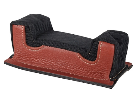 Edgewood Front Shooting Rest Bag Common Varmint Width with Extra Reinforcment Leather and Nylon Black Unfilled