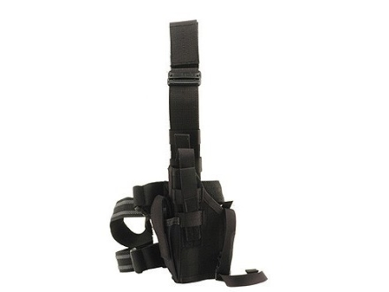 BlackHawk Omega 6 Elite Drop Leg Holster Left Hand 1911 Government, Commander Nylon Black