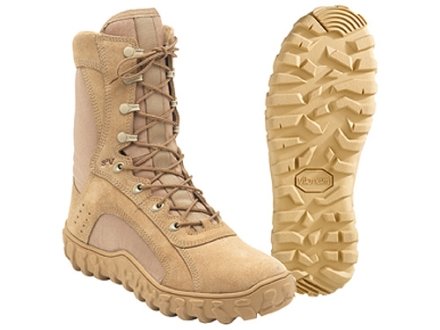 "Rocky S2V 8"" Flash and Water-Resistant 400 Gram Insulated Boots Cordura Nylon Desert Tan Mens 10 D"