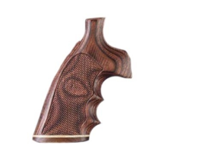 Hogue Fancy Hardwood Grips with Accent Stripe, Finger Grooves and Contrasting Butt Cap Ruger Redhawk Checkered Rosewood Laminate