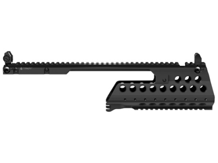 Troy Industries G36-C Battle Rail 2-Piece Customizable Rail System with Flip-Up Iron Sights HK G36 Black