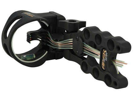 "Apex Gear Accu-Strike Pro 5 Select 5-Pin Bow Sight .019"" Diameter Pins Aluminum Black"