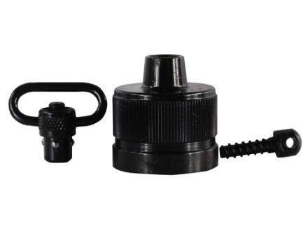 "GrovTec Push Button Magazine Cap with 1"" Quick Detach Sling Swivel Benelli Super Black Eagle, SBE II, M2 12 Gauge Steel Black"
