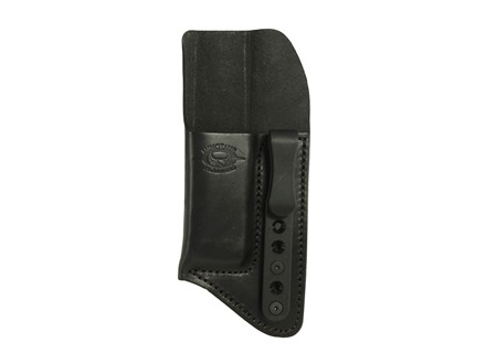 "Comp-Tac Minotaur Concealment Magazine Pouch Inside the Waistband with Black Belt Clip 1-1/2"" Large Doube Stack 45 ACP, 10mm Glock, H&K, 2011 Black"