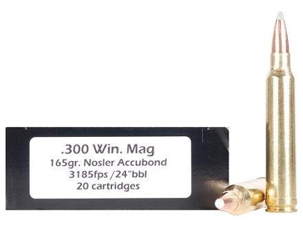 Doubletap Ammunition 300 Winchester Magnum 165 Grain Nosler AccuBond Spitzer Box of 20