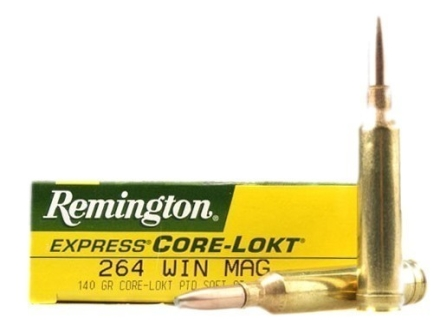 Remington Express Ammunition 264 Winchester Magnum 140 Grain Pointed Soft Point Core-Lokt Box of 20