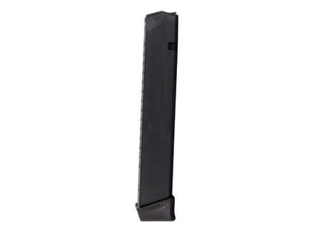 PW Arms Magazine Glock 17, 19, 26, 34 9mm Luger 33-Round Polymer Black