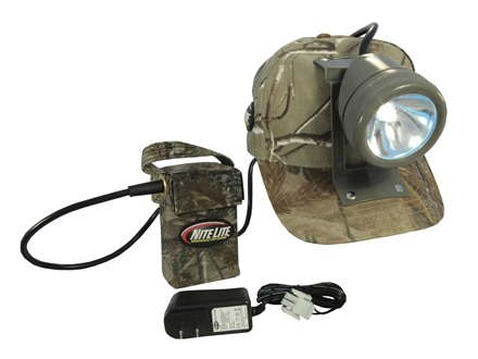 Nite Lite Tracker Rechargeable Headlamp Package 80,000 Candle Power Incandescent Bulb with Batteries (6 Volt) Realtree AP Camo